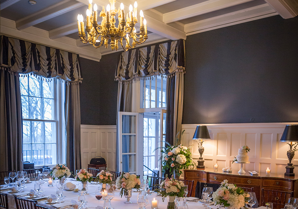 Colonel Langdon's Room | Firshade and Summer House Wedding Langdon Hall, Cambridge, Ontario