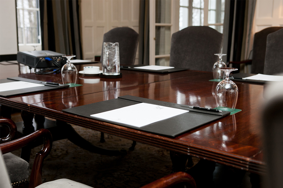 Detail of meeting room table