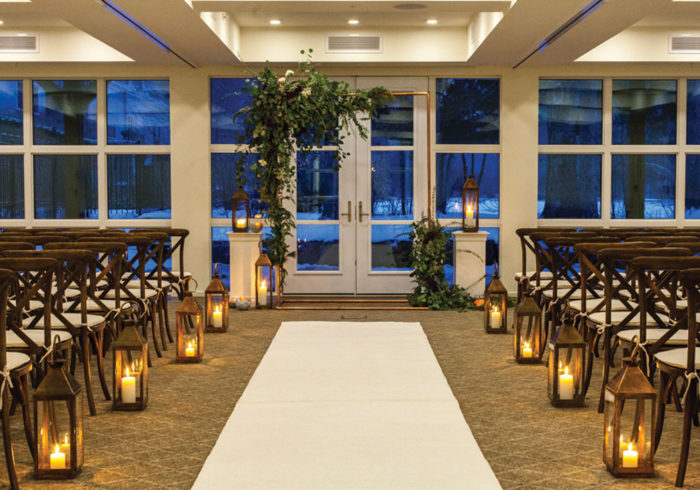 firshade indoor wedding