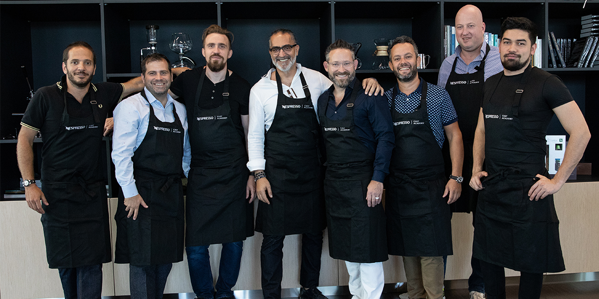 Jason Bangerter and chefs at Nespresso Academy
