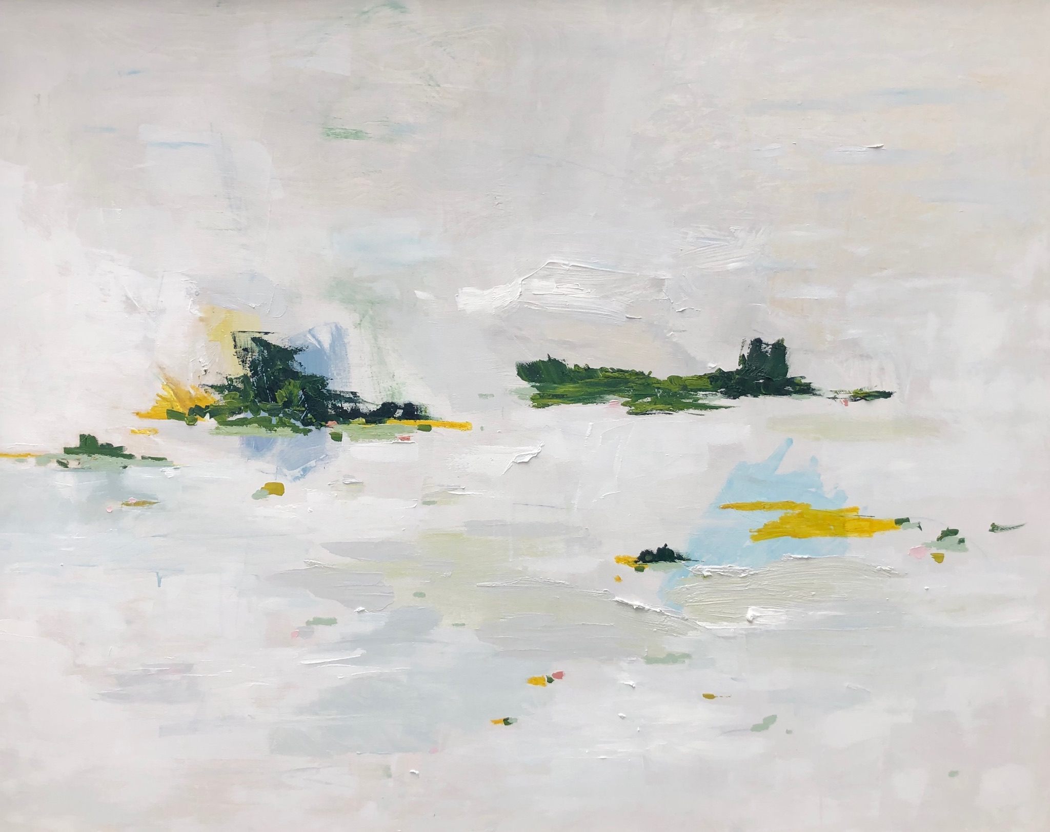 Archipelago Study, oil and acrylic on panel, 60