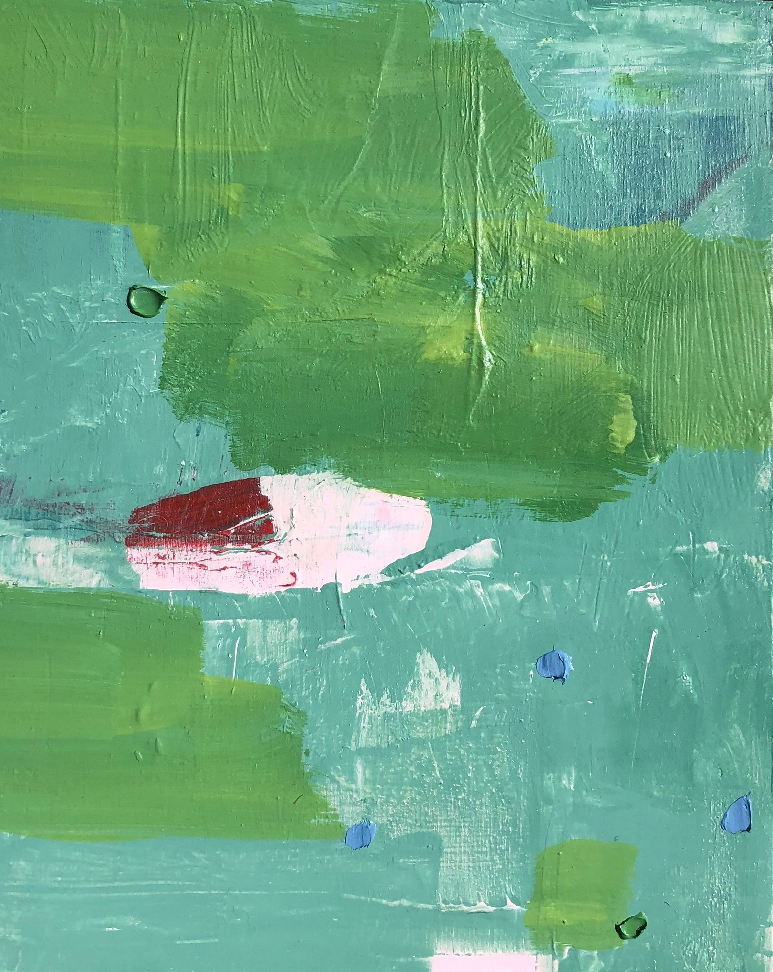 """SOLD - Pink Toy Boat, Oil And Acrylic on Panel 10"""" x 8"""" - Johanna Reynolds"""